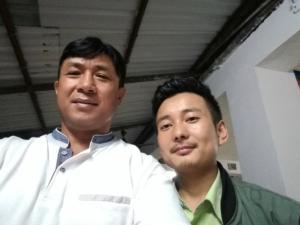 Elder Mr. David Gurung and Bhutan Team Member